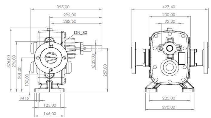 DT-251 Dişli Pompa ölçüler